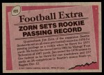 1977 Topps #455   -  Jim Zorn Record Breaker Back Thumbnail