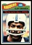 1977 Topps #470  Cliff Branch  Front Thumbnail