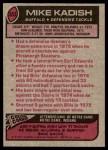 1977 Topps #353  Mike Kadish  Back Thumbnail