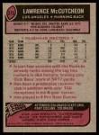 1977 Topps #375  Lawrence McCutcheon  Back Thumbnail