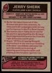 1977 Topps #420  Jerry Sherk  Back Thumbnail