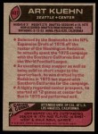 1977 Topps #437  Art Kuehn  Back Thumbnail