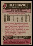 1977 Topps #470  Cliff Branch  Back Thumbnail