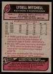 1977 Topps #370  Lydell Mitchell  Back Thumbnail