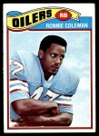 1977 Topps #407  Ronnie Coleman  Front Thumbnail