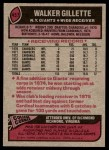 1977 Topps #457  Walker Gillette  Back Thumbnail