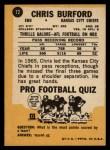1967 Topps #72  Chris Buford  Back Thumbnail