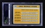 1963 Topps #553   -  Willie Stargell / Jim Gosger / Brock Davis / John Herrnstein Rookie Stars Back Thumbnail