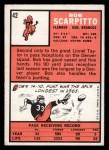 1966 Topps #42  Bob Scarpitto  Back Thumbnail