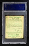 1934 Goudey #62  Hank Greenberg  Back Thumbnail
