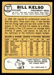 1968 Topps #511  Bill Kelso  Back Thumbnail