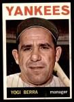 1964 Topps #21  Yogi Berra  Front Thumbnail