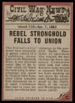 1962 Topps Civil War News #15   Nature's Fury Back Thumbnail