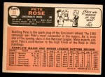 1966 Topps #30  Pete Rose  Back Thumbnail