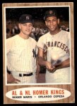 1962 Topps #401   -  Roger Maris / Orlando Cepeda Homer Kings Front Thumbnail