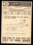 1959 Topps #10  Jim Brown  Back Thumbnail