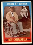 1959 Topps #550   -  Roy Campanella Symbol of Courage Front Thumbnail