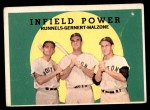 1959 Topps #519   -  Pete Runnels / Dick Gernert / Frank Malzone Infield Power Front Thumbnail