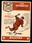 1959 Topps #560   -  Luis Aparicio All-Star Back Thumbnail