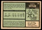 1971 O-Pee-Chee #193  Darryl Sittler  Back Thumbnail