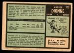 1971 O-Pee-Chee #133  Marcel Dionne  Back Thumbnail