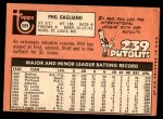 1969 Topps #609  Phil Gagliano  Back Thumbnail