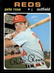 1971 Topps #100  Pete Rose  Front Thumbnail