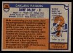 1976 Topps #112  Dave Dalby   Back Thumbnail