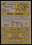 1974 Topps #524  Bert Jones  Back Thumbnail