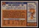 1976 Topps #426  Ron Jaworski   Back Thumbnail
