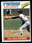 1977 Topps #120  Rod Carew  Front Thumbnail