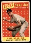 1958 Topps #483   -  Luis Aparicio All-Star Front Thumbnail