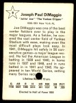 1961 Golden Press #9  Joe DiMaggio  Back Thumbnail