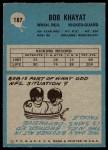 1964 Philadelphia #187  Bob Khayat  Back Thumbnail