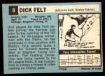 1964 Topps #9  Dick Felt  Back Thumbnail