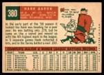 1959 Topps #380  Hank Aaron  Back Thumbnail