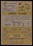 1974 Topps #374  Jerry Tagge  Back Thumbnail