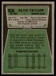 1975 Topps #481  Altie Taylor  Back Thumbnail