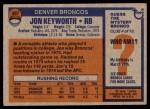 1976 Topps #367  Jon Keyworth   Back Thumbnail