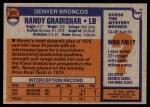1976 Topps #257  Randy Gradishar   Back Thumbnail