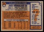 1976 Topps #310  Jack Youngblood  Back Thumbnail