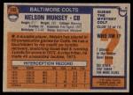 1976 Topps #153  Nelson Munsey   Back Thumbnail