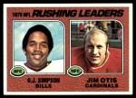 1976 Topps #203   -  O.J. Simpson / Jim Otis  Rushing Leaders Front Thumbnail