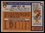 1976 Topps #243  Larry Ely   Back Thumbnail