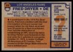 1976 Topps #252  Fred Dryer  Back Thumbnail