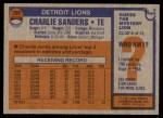1976 Topps #265  Charlie Sanders  Back Thumbnail