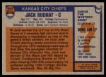 1976 Topps #277  Jack Rudnay  Back Thumbnail