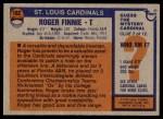 1976 Topps #162  Roger Finnie  Back Thumbnail