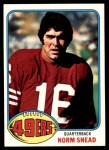 1976 Topps #163  Norm Snead  Front Thumbnail