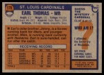 1976 Topps #179  Earl Thomas  Back Thumbnail